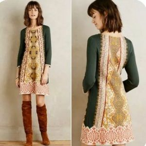 Anthropologie Knitted Knotted Lanka Tunic  Dress
